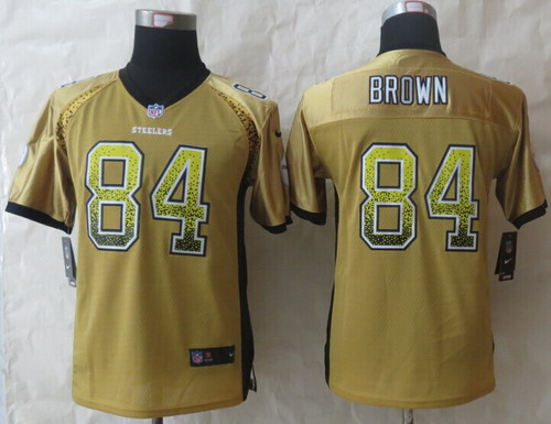 newest collection 8e0e7 81b99 Nike Pittsburgh Steelers #84 Antonio Brown Drift Fashion ...