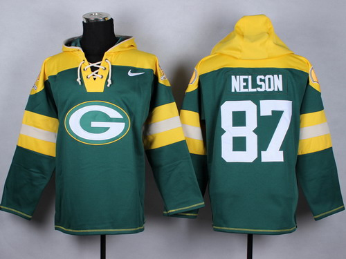Nike Green Bay Packers #87 Jordy Nelson 2014 Green Hoodie