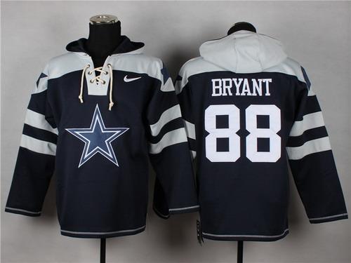 the latest d59de 3a730 Nike Cowboys #21 Ezekiel Elliott Navy Blue Player Pullover ...