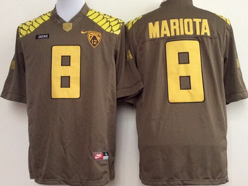 Oregon Duck #8 Marcus Mariota 2013 Brown Limited Jersey