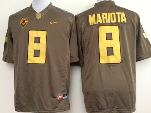 Oregon Duck #8 Marcus Mariota 2014 Brown Limited Jersey