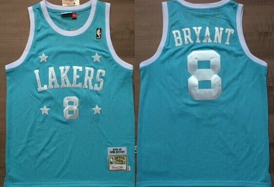 best service 31764 7da7a Los Angeles Lakers #8 Kobe Bryant Light Blue With Star ...