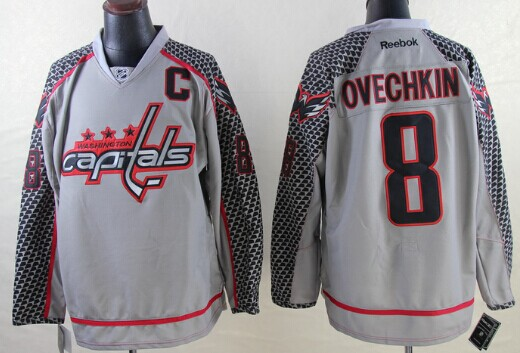 Alex Ovechkin Charcoal Gray Jersey