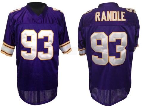 New Minnesota Vikings #93 John Randle Purple Throwback Jersey on sale