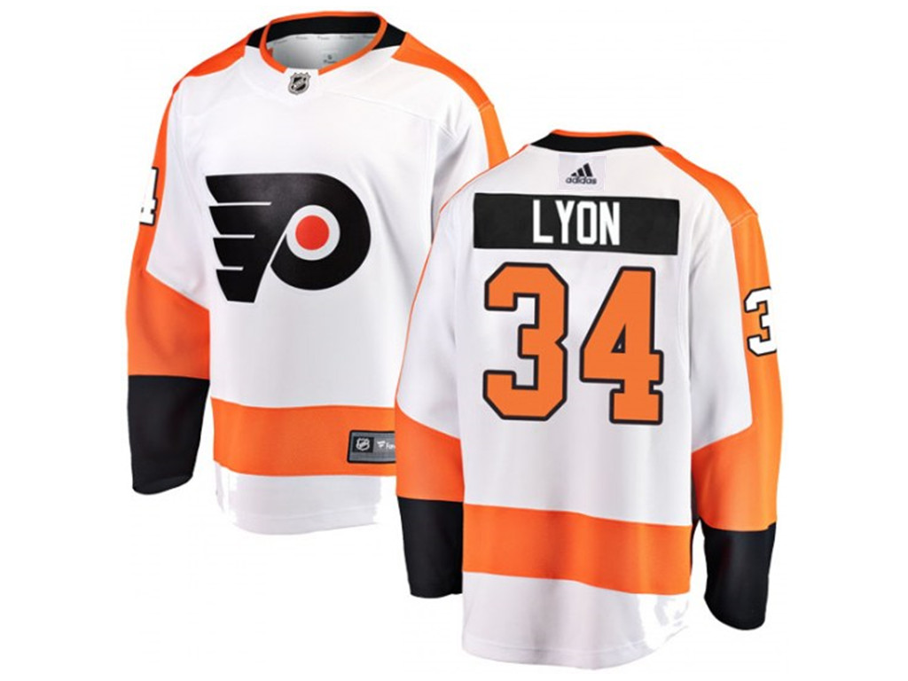 Adidas Philadelphia Flyers #34 Alex Lyon Away Fanatics WhiteJersey