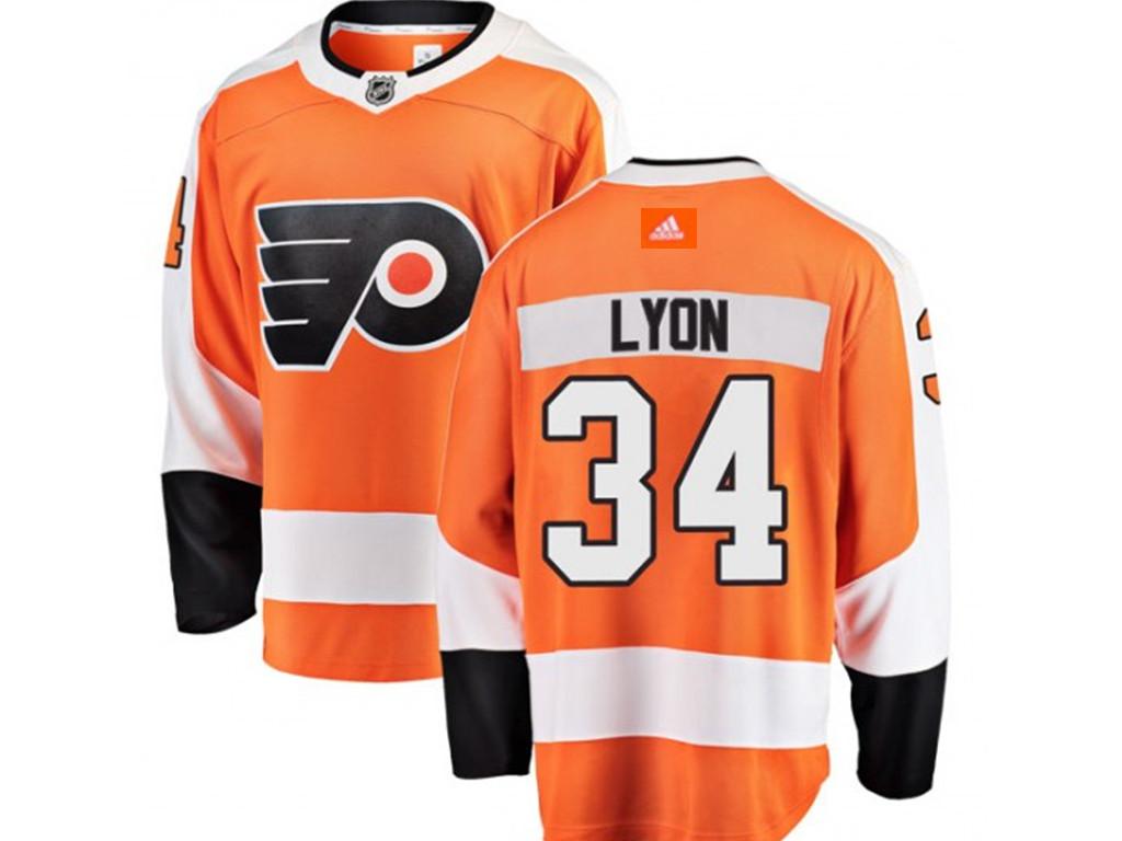 Adidas Philadelphia Flyers #34 Alex Lyon Home Fanatics Orange Jersey