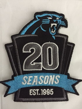newest e867b aaf5c Carolina Panthers 20th Anniversary Patch on sale,for Cheap ...