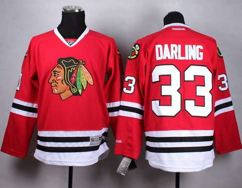 6526e677ab6 Chicago Blackhawks #33 Scott Darling Red Jersey on sale,for Cheap ...