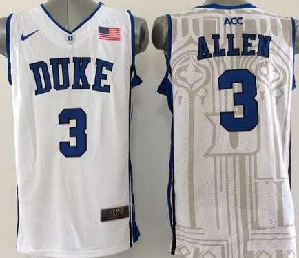 d9631e142ed Duke Blue Devils #3 Grayson Allen White Jersey on sale,for Cheap ...