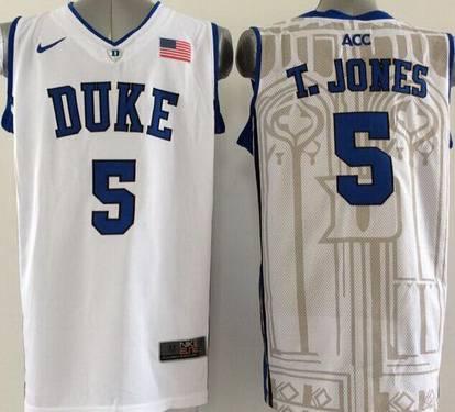 6d64175c403 Duke Blue Devils  5 Tyus Jones Black Jersey on sale