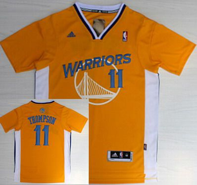 new styles 9e8ad b51fd Golden State Warriors #11 Klay Thompson Revolution 30 ...