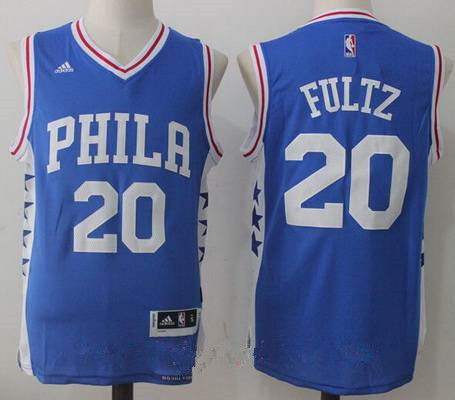 ff5e88905 Men s 2017 Draft Philadelphia 76ers  20 Markelle Fultz Blue Stitched NBA  adidas Revolution 30 Swingman