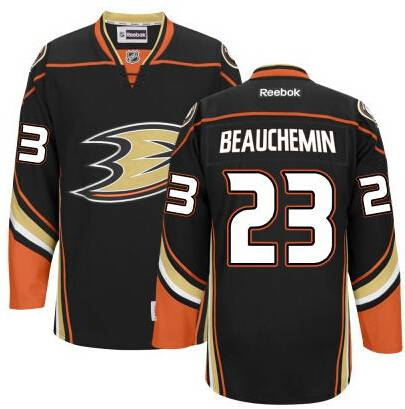 the best attitude 98a45 e329e Men's Anaheim Ducks #23 Francois Beauchemin Black Third ...