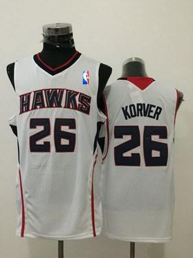 super popular 073ca 67a92 Men's Atlanta Hawks #26 Kyle Korver Red Swingman Jersey on ...