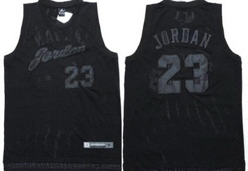 Men's Chicago Bulls #23 Michael Jordan All Black Soul Swingman ...
