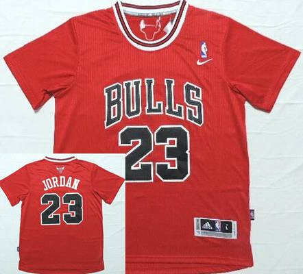 681cd590c0f Men's Chicago Bulls #23 Michael Jordan Revolution 30 Swingman Red  Short-Sleeved Jersey