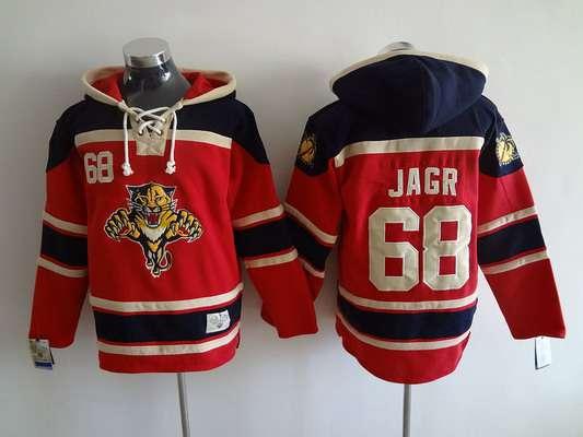 buy online b664f 99d2e Men's Florida Panthers #68 Jaromir Jagr Old Time Hockey Red ...
