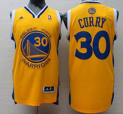 5b7fa3446 Men s Golden State Warriors  30 Stephen Curry Revolution 30 Swingman Yellow  Jersey