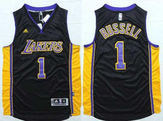 bf39af951 Men s Los Angeles Lakers  1 D Angelo Russell Revolution 30 Swingman 2015  Draft New