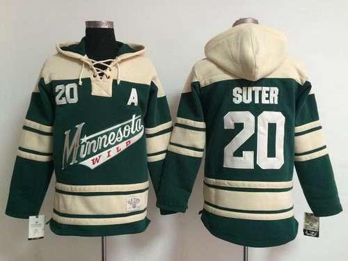 size 40 5d99f e4b64 Men's Minnesota Wild #20 Ryan Suter Old Time Hockey Green ...
