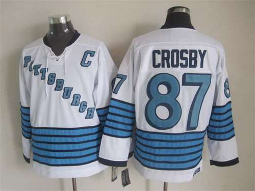 size 40 927f7 a4664 Men's Pittsburgh Penguins #87 Sidney Crosby 1967-68 White ...
