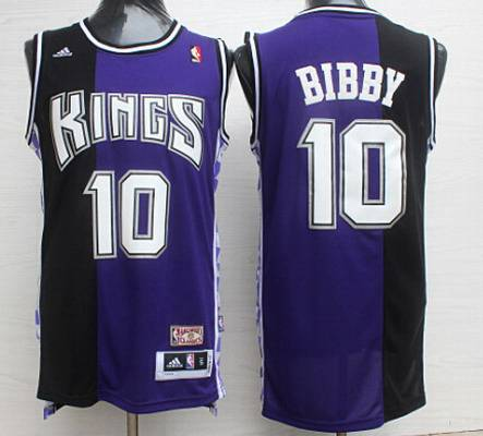 ace8bd2d Men's Sacramento Kings #10 Mike Bibby PurpleBlack Hardwood Classics Soul Swingman  Throwback Jersey