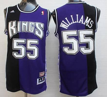 mens sacramento kings 55 jason williams purpleblack hardwood classics soul swingman throwback jersey