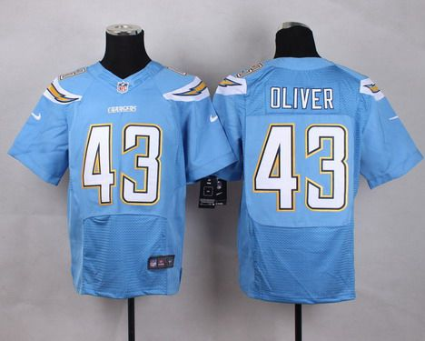 Men s San Diego Chargers  43 Branden Oliver 2013 Nike Light Blue Elite  Jersey 6ad472edf