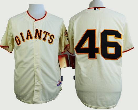 mens san francisco giants 46 santiago casilla cream jersey
