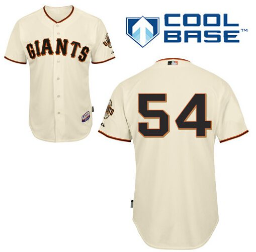 mens san francisco giants 54 sergio romo cream jersey