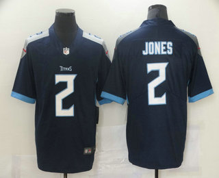 Men's Tennessee Titans #2 Julio Jones Navy Vapor Untouchable Limited Jersey