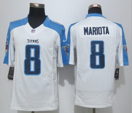 Cheap Men's Tennessee Titans #8 Marcus Mariota Nike Navy Blue Limited  supplier