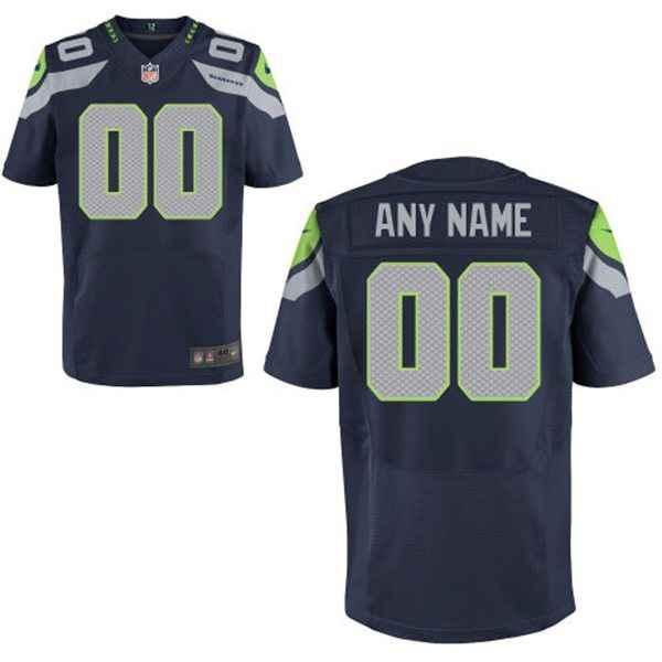 Men's Seattle Seahawks Nike College Navy Customized 2014 Elite Jersey