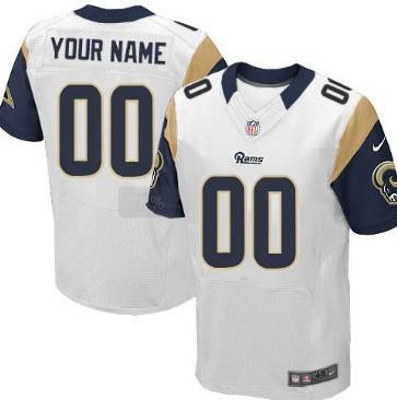 Men's St. Louis Rams Nike White Discount Customized Elite Jersey