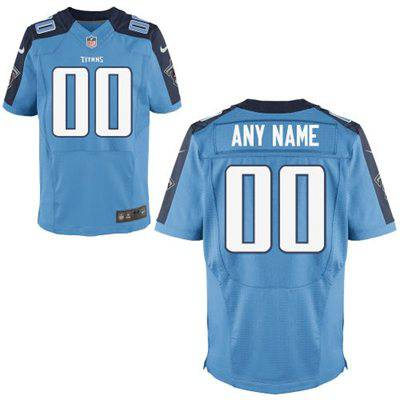 Men's Tennessee Titans Nike Light Blue Customized 2014 Elite Jersey
