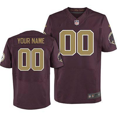 Men's Washington Redskins Nike Red Customized 2014 Alternate Elite Jersey