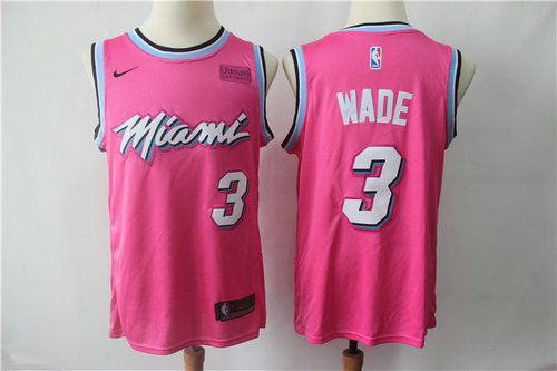 2918b34c7d0 Men s Miami Heat  3 Dwyane Wade Nike 2018 NBA Earned Edition Swingman Jersey