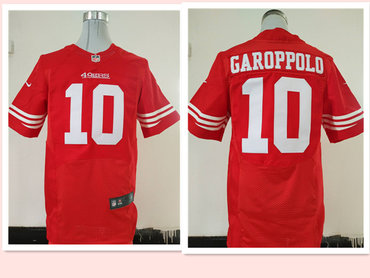 Men's San Francisco 49ers #10 Jimmy Garoppolo Scarlet Red Team Color Stitched NFL Nike Elite Jersey