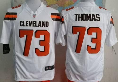 3b18b82aa Nike Cleveland Browns  73 Joe Thomas 2015 White Game Jersey