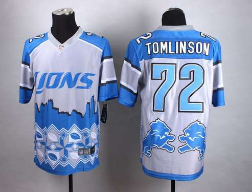 Nike Detroit Lions #72 Laken Tomlinson 2015 Noble Fashion Elite Jersey
