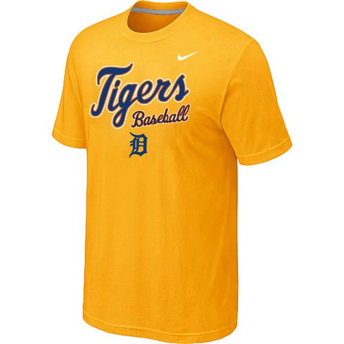 Nike MLB Detroit Tigers 2014 Home Practice T-Shirt - Yellow