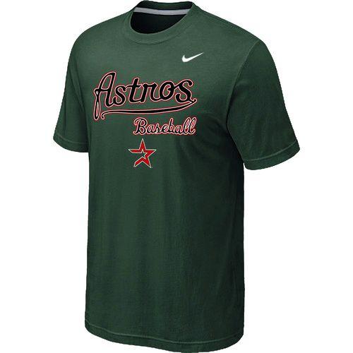 Nike MLB Houston Astros 2014 Home Practice T-Shirt - Dark Green