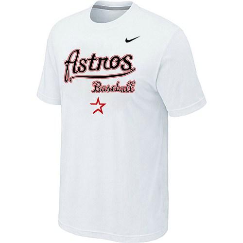 Nike MLB Houston Astros 2014 Home Practice T-Shirt - White