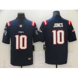 Men New England Patriots #10 Mac Jones Navy 2021 Draft Vapor Limited  Jersey