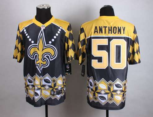 Nike New Orleans Saints #50 Stephone 2015 Noble Fashion Elite Jersey