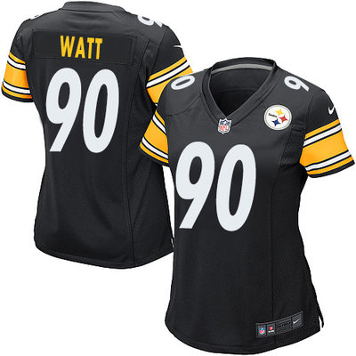 Women's 2017 NFL Draft Pittsburgh Nike Steelers #90 T. J. Watt Black Team Color  Stitched NFL Elite Jersey