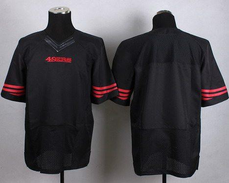 new styles 2ad84 27bbf San Francisco 49ers Nike Black Customized 2015 Elite Jersey ...