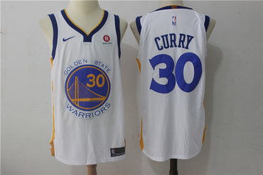 004d781b Men's Golden State Warriors #30 Stephen Curry White 2017-2018 Nike Swingman Stitched  NBA Jersey