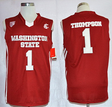 the best attitude 5eab1 11165 Washington State Cougars #1 Klay Thompson Red Jersey on sale ...