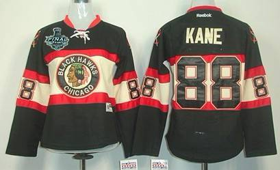 3f8a4060647 Women s Chicago Blackhawks  88 Patrick Kane 2015 Stanley Cup Black Third  Jersey